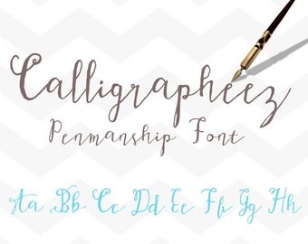 Hand Lettered Font Download Calligraphy Font Calligrapheez