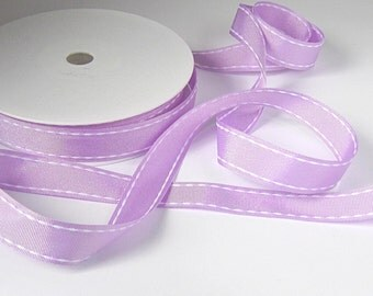 Lilac ribbon, grosgrain ribbon, 16mm ribbon, yard of ribbon, sewing supplies, uk ribbon supplies, ribboncraft supplies, cardmaking supplies