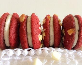 Red Velvet Cookie Sanwiches