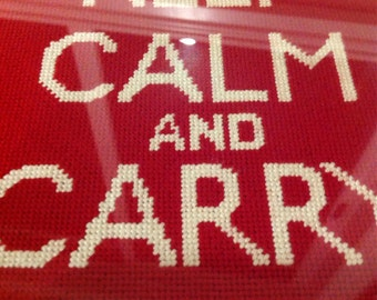Keep Calm and Carry On Needlepoint