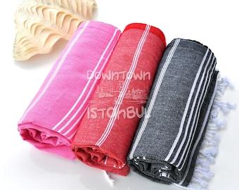 France Linen Towel Set of 3 Turkish Bath Towel - Turkey Peshtemal Sea Beach Towel Beach Wedding Swim Cover Up Beach Sarong Towel Guest Towel
