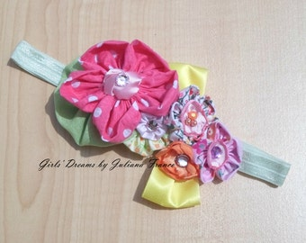Flower Headband, Baby Headband, Girls Headband, Toddler Headband, Kids Headband, Infant Headband, Headband