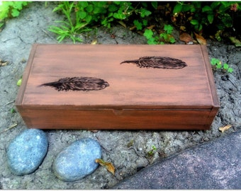 Rustic Feather Box
