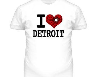 I Love Detroit Motor City T Shirt