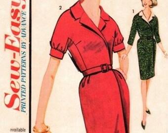 Advance 3285 Refined Mock Wrap Dress / ca. 1962 / SZ14 UNCUT