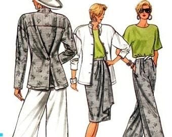 Vogue 9636 Offbeat Jacket, Skirt, Pants & Top 1986 / SZ8-12 UNCUT