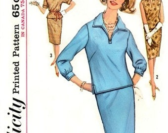 Simplicity 5021 Snazzy Two-Piece Dress / ca. 1963 / SZ12 UNCUT