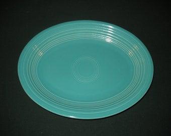 Fiestaware Turquoise Serving Platter by Homer Laughlin