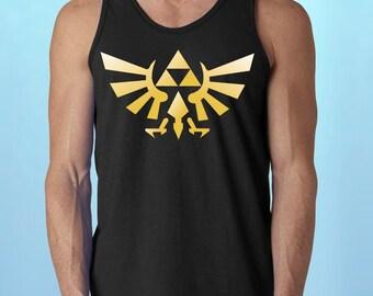 The Legend of ZELDA Triforce logo  * MeN's TaNK-ToP *  Nintendo gamer