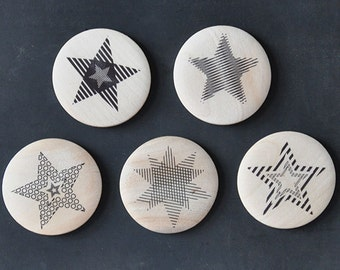 Wooden magnets - Stars