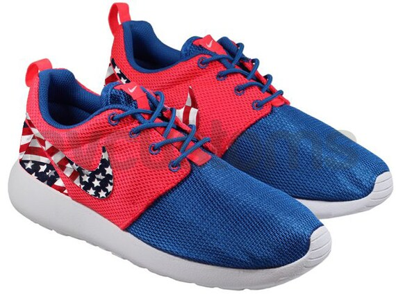 nike roshe run with american flag