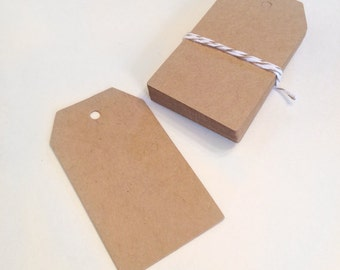 20 blank kraft tags  - gift wrapping tags - packaging tags - gift tags - wedding favor tags - small brown kraft tags - party favor tags