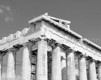 Parthenon - Acropolis - Athens - Greece - Black & White Photo Print - Wall Art - Decor - Greek Photography