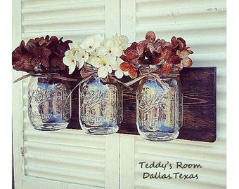 Mason Jar Wall Decor Farmhouse Decor Country Decor Rustic Decor