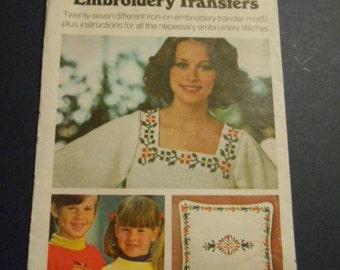 Butterick 4004,  Embroidery Tranfers,