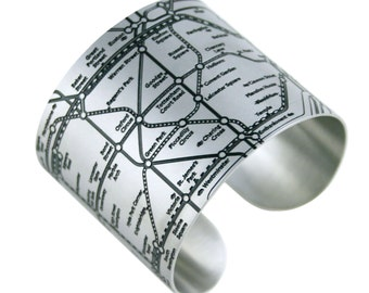 London Tube Cuffs - London underground map bracelets