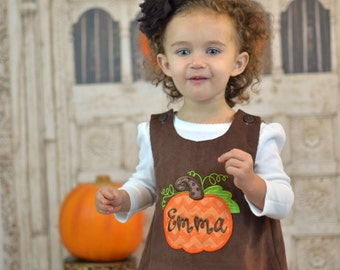 Brown Cord Pumpkin Dress, Pumpkin Dress, Fall Dress