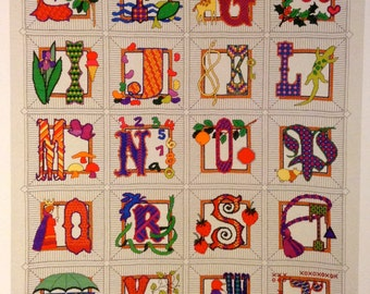 Alphabet Dreams -  Children's Wall Art
