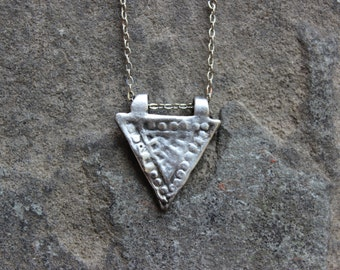 Silver-Tone Triangle Necklace