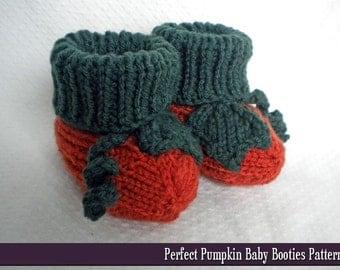 Perfect Pumpkin Baby Booties Knitting Pattern