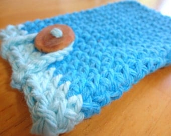 Crocheted Cell Phone Case - Smart Phone Sleeve - Phone Cozy