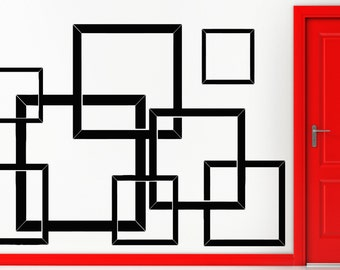 Wall Sticker Modern Squers Abstract For Living Room Bedroom (z1602)