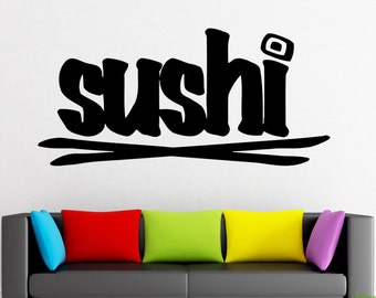 Wall Stickers Vinyl Decal Sushi KItchen Restaurant  Decor For Living Room (z636)
