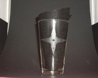 Skyrim-Inspired Dawnstar Thane Etched Pint Glass