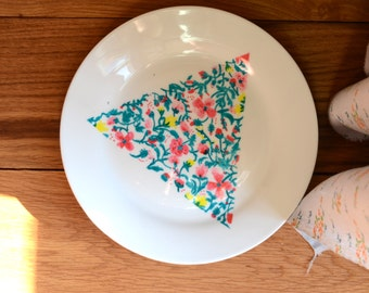 Base triangle liberty flowers hand-painted