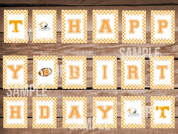 Tennessee Vols Football Happy Birthday Banner With
