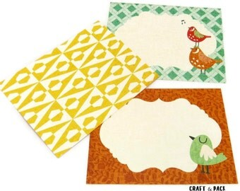 8 Colorful Cards for your scrapbooking or thank you cards
