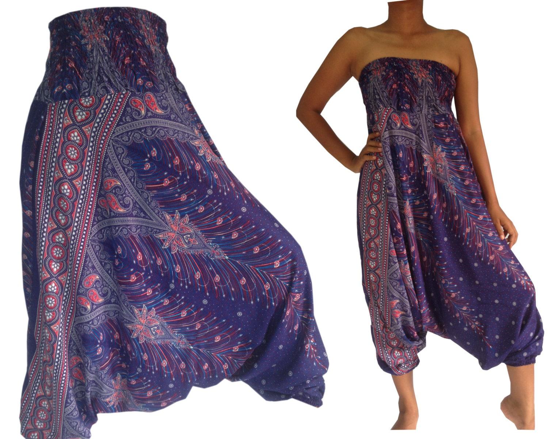 Amazing Gypsy Hippie Aladdin Hmong Genie Hammer Baggy Men Women Harem Pants Trousers   EBay