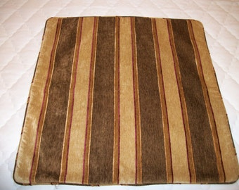 High End Chenille stripe pillow cover 23 x 23
