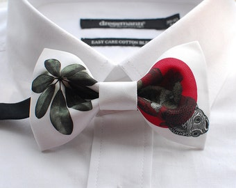 Leaves Bowtie - Modern Boys Bowtie, Toddler Bowtie Toddler Bow tie,Pre Tied and Adjustable
