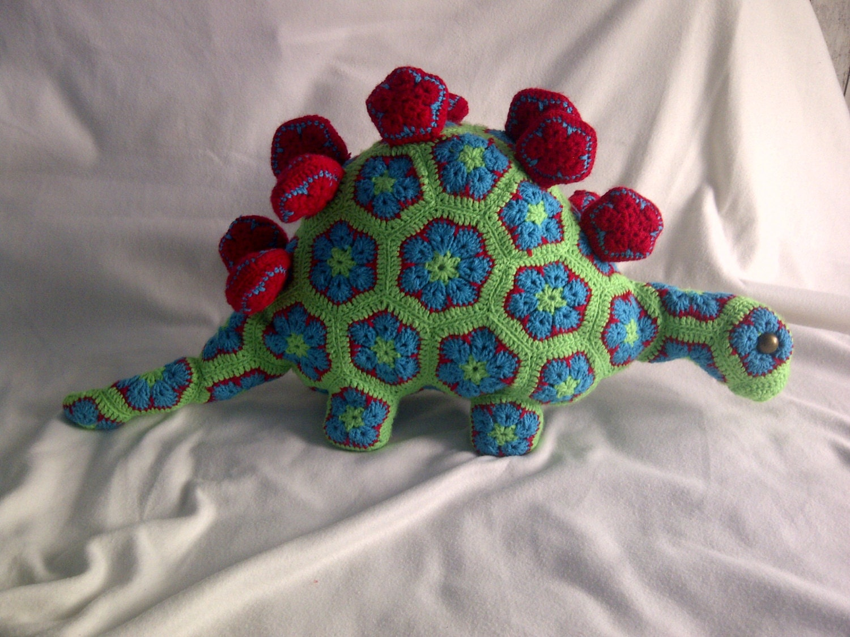 African Flower Amigurumi Free : Handmade crochet toys dinosaur African Flower Amigurumi