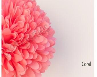 "Coral Tissue Pom 14"""