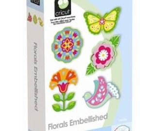 Cricut Cartridge, Florals Embellished, Flowers, Birds, Butterflies