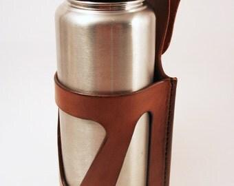 Leather Belt Bottle Holder, Holster 1L