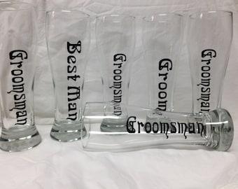 Groomsmen Pilsner Set