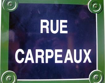Paris Street Sign 'Rue Carpeaux':  Enamel