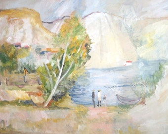 European art romantic walking landscape oil painting