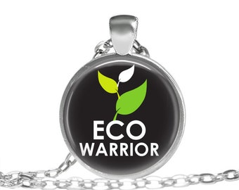 Be Ecofriendly Be Eco Warrior Jewelry Necklace, Eco Friendly, Rare Earth, Stop Global Warming, Eco Friendly Quote, Eco Friendly Jewelry