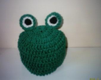 photo prop frog hat, newborn frog hat, baby beanie hat, newborn beanie hat, baby boy frog hat, newborn boy hat,