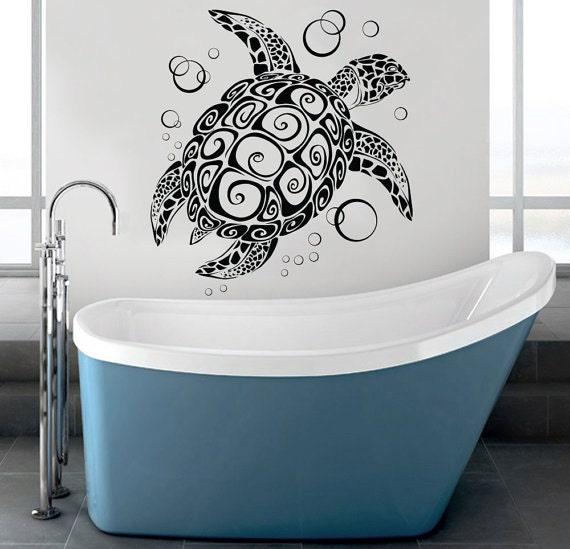 Large Sea Turtle Vinyl Wall Art Fun Under Sea Wall Decal