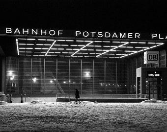 Bahnhof, Potsdamer Platz, metro station, Berlin, Germany, printable fine art photography, instant download