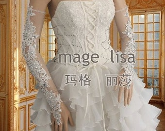 wedding gloves Bridal gloves lace gloves white long gloves