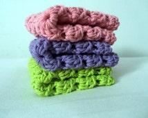 Crochet Dish clothes, Granny Square Wash clothes, Cotton Dish clothes, Baby Accessories, Bath Accessories