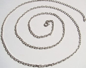 CURB Chain - Solid sterling Silver 925 chain