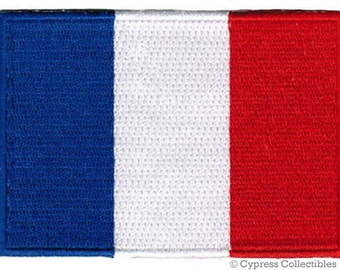 FRANCE FLAG PATCH iron-on embroidered applique Top Quality