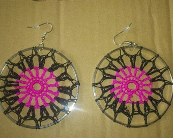 Dream catcher earrings.